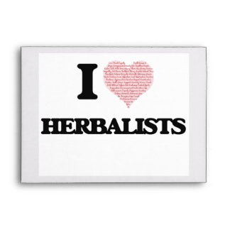 I love Herbalists (Heart made from words) Envelope