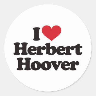I Love Herbert Hoover Stickers