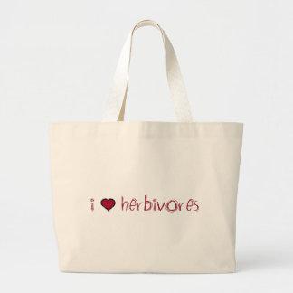 I Love Herbivores Canvas Bag