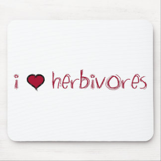 I Love Herbivores Mouse Pad