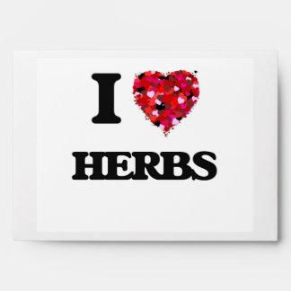 I Love Herbs Envelopes