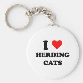 I Love Herding Cats Key Chain