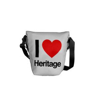 i love heritage courier bag