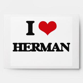 I Love Herman Envelopes