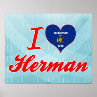 I Love Herman, Wisconsin Poster