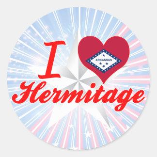I Love Hermitage, Arkansas Round Sticker