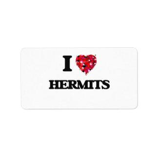 I Love Hermits Address Label
