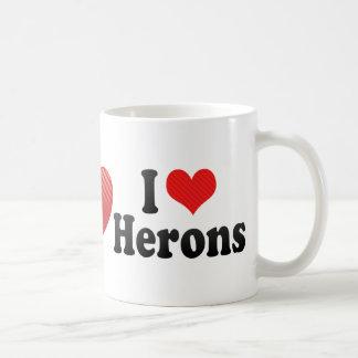 I Love Herons Mugs