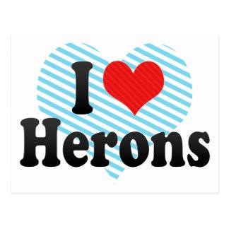I Love Herons Postcard