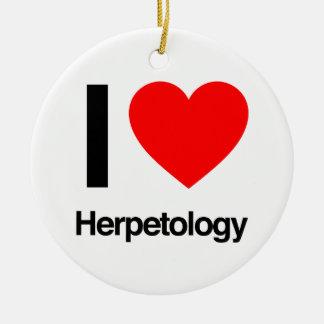 i love herpetology ceramic ornament