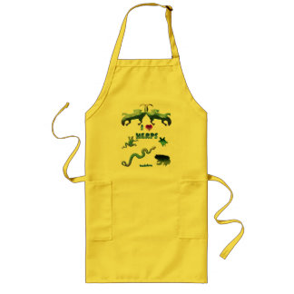 I Love Herps Aprons