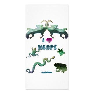 I Love Herps Photo Card