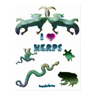 I Love Herps Postcard