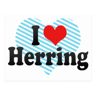 I Love Herring Postcard
