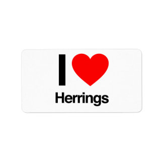 i love herrings labels