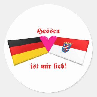I Love Hessen ist mir lieb Round Stickers
