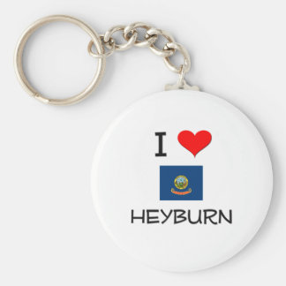 I Love HEYBURN Idaho Keychain