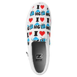 I Love HG TV Slip-On Sneakers