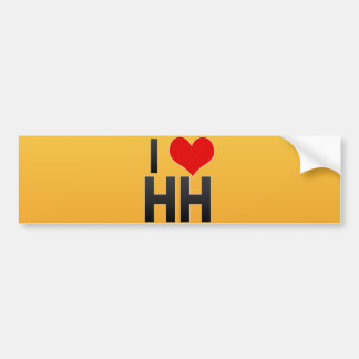 I Love HH Car Bumper Sticker