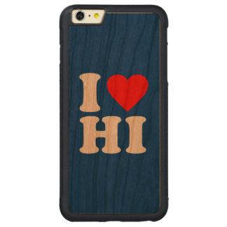 I LOVE HI CARVED® CHERRY iPhone 6 PLUS BUMPER