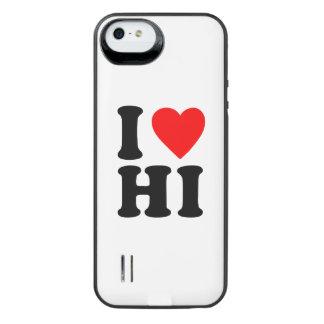 I LOVE HI iPhone SE/5/5s BATTERY CASE