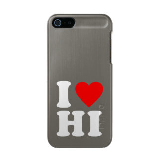 I LOVE HI METALLIC iPhone SE/5/5s CASE