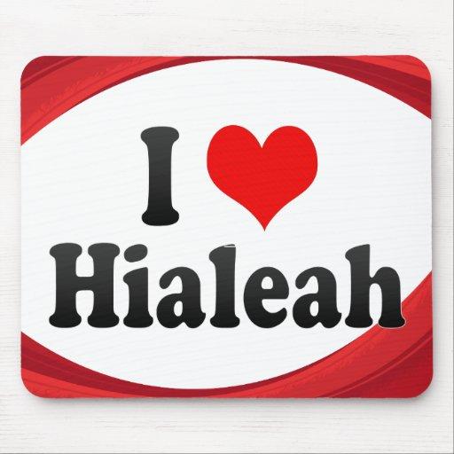 I Love Hialeah, United States Mousepad