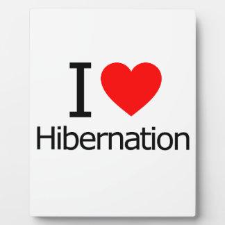 I Love Hibernation Plaque