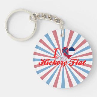I Love Hickory Flat, Mississippi Acrylic Keychain
