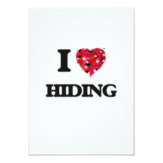 I Love Hiding 5x7 Paper Invitation Card