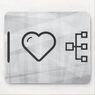 I Love Hierarchys Mouse Pad