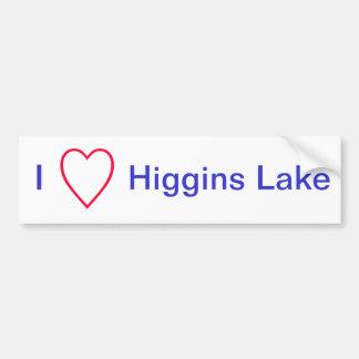 I Love Higgins Lake Car Bumper Sticker