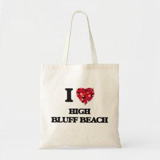I love High Bluff Beach California Budget Tote Bag