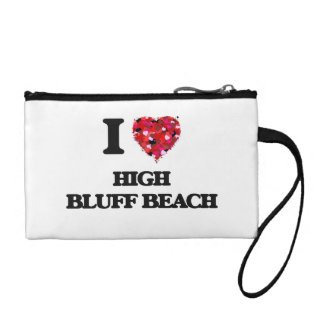 I love High Bluff Beach California Change Purses