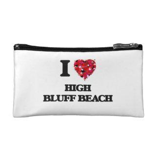 I love High Bluff Beach California Cosmetic Bags