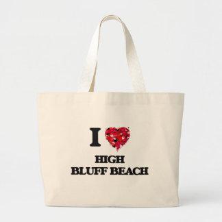 I love High Bluff Beach California Jumbo Tote Bag