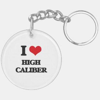I love High Caliber Double-Sided Round Acrylic Keychain