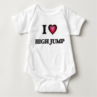 I Love High Jump Baby Bodysuit