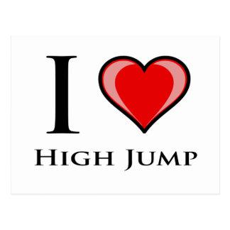 I Love High Jump Postcard