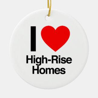 i love high-rise homes christmas ornament
