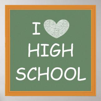 I Love High School Poster