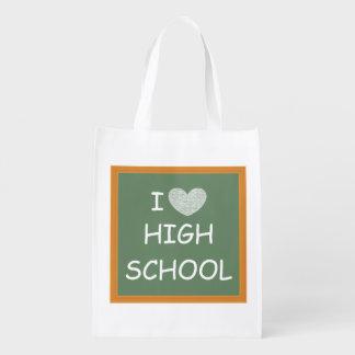 I Love High School Market Totes
