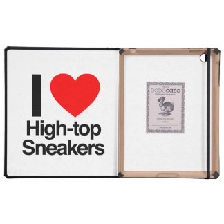 i love high-top sneakers iPad folio case