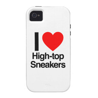 i love high-top sneakers Case-Mate iPhone 4 cases