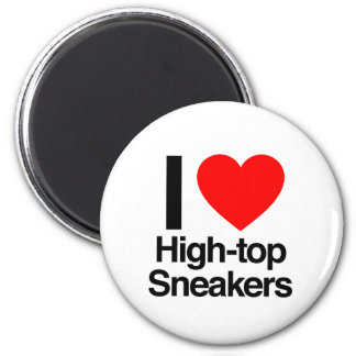 i love high-top sneakers refrigerator magnets