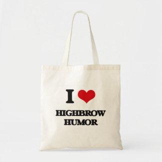 I love Highbrow Humor Canvas Bag