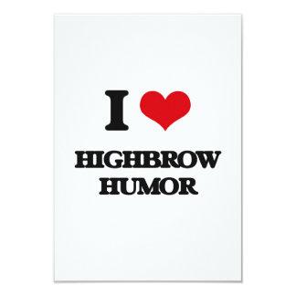 I love Highbrow Humor Invitation Cards