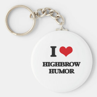I love Highbrow Humor Keychain