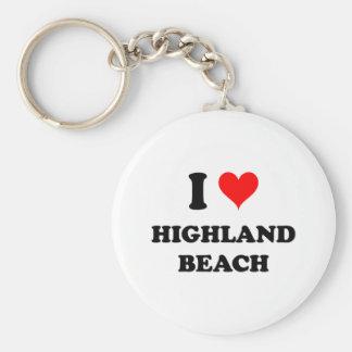 I Love Highland Beach Maryland Key Chain
