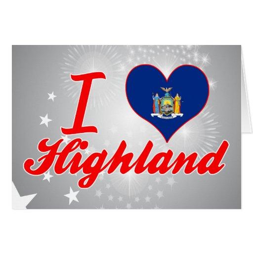I Love Highland, New York Greeting Card